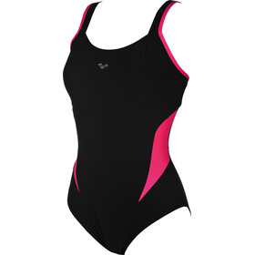 arena Makimurax Low C Cup One Piece Swimsuit Dames, black-rose violet